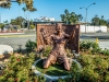 Statue von Brandi Chastain am Rose Bowl Stadium in Pasadena