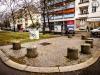 """Drehort """"Drei Damen vom Grill"""" am Steubenplatz"""