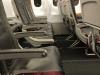 leere Sitzreihe beim Rückflug von Dresden nach Köln am 10.07.2018