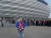 2009 am 22.11. vor der Allianz-Arena in München