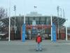 im Januar 2013 vor dem Arthur Ashe Stadium in Flushing