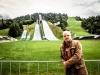 im September 2017 in Garmisch-Partenkirchen vor der Großen Olympiaschanze