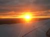 Sonnenuntergang auf dem Rückflug von London nach Köln