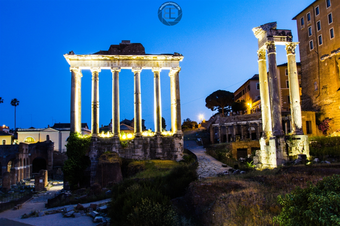 Forum Romanum zur blauen Stunde