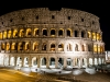 Blick auf's Kolosseum bei Nacht