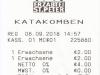 Salzburg 2018: Quittung Katakomben Abtei St. Peter